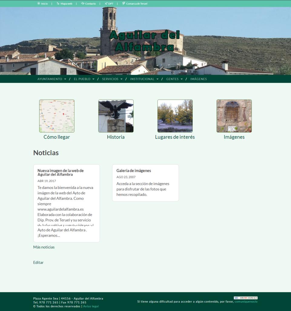 Nueva web Aguilar del Alfambra